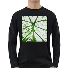 Leaf Patterns Mens' Long Sleeve T Shirt (dark Colored) by natureinmalaysia
