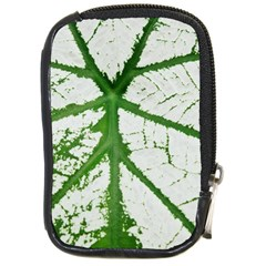 Leaf Patterns Compact Camera Leather Case by natureinmalaysia