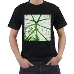 Leaf Patterns Mens' T Shirt (black) by natureinmalaysia