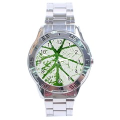 Leaf Patterns Stainless Steel Watch (men s) by natureinmalaysia