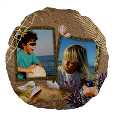 Our Holiday 18  Premium Round Cushion By Deborah   Large 18  Premium Round Cushion    3zofyakohb7l   Www Artscow Com Front