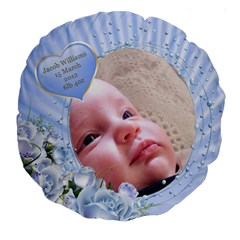 My Boy 18  Premium Round Cushion By Deborah   Large 18  Premium Round Cushion    Gr01lbhtg067   Www Artscow Com Front