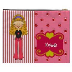 Blonde Hair Bag By Lillyskite   Cosmetic Bag (xxxl)   7ijuevx14ib4   Www Artscow Com Back