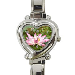 A Pink Lotus Heart Italian Charm Watch  by natureinmalaysia