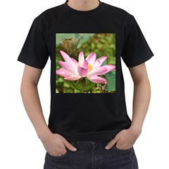 A Pink Lotus Mens' Two Sided T-shirt (Black) by natureinmalaysia