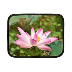 A Pink Lotus Netbook Case (small) by natureinmalaysia