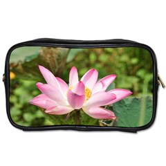 A Pink Lotus Travel Toiletry Bag (one Side) by natureinmalaysia