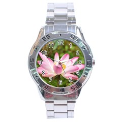 A Pink Lotus Stainless Steel Watch (men s) by natureinmalaysia