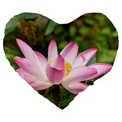 A Pink Lotus 19  Premium Heart Shape Cushion by natureinmalaysia