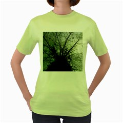 An Old Tree Womens  T Shirt (green) by natureinmalaysia