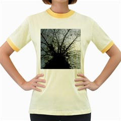 An Old Tree Womens  Ringer T Shirt (colored) by natureinmalaysia