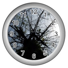 An Old Tree Wall Clock (silver) by natureinmalaysia