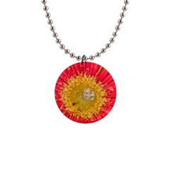 A Red Flower Button Necklace by natureinmalaysia