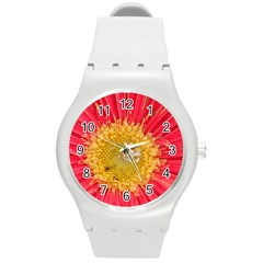 A Red Flower Plastic Sport Watch (medium) by natureinmalaysia