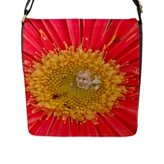 A Red Flower Flap Closure Messenger Bag (large) by natureinmalaysia
