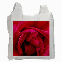 Macro Photo Of Rose Recycle Bag (one Side) by designsbyvee