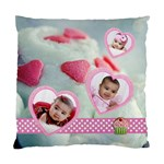 cupcake hearts 2 sided cushion case - Standard Cushion Case (Two Sides)