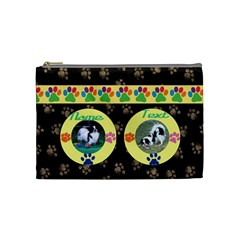 Doggy/kitty Medium Cosmetic Bag By Joy Johns   Cosmetic Bag (medium)   Iwzwfqs0ion1   Www Artscow Com Front