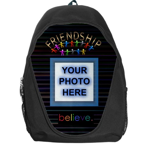 Friendship Back Pack  By Joy Johns   Backpack Bag   Udqtn38r1u3m   Www Artscow Com Front