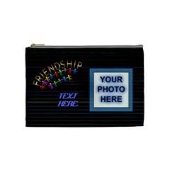 Friendship Medium Cosmetic Bag By Joy Johns   Cosmetic Bag (medium)   L4fscim7img8   Www Artscow Com Front