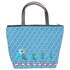 Our Backyard Party Bucket Bag By Lisa Minor   Bucket Bag   Sb20w6h05tzv   Www Artscow Com Back