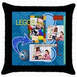 kids lego - Throw Pillow Case (Black)