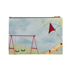 At The Park Large Cosmetic Bag By Lisa Minor   Cosmetic Bag (large)   Sxoosehf0her   Www Artscow Com Back
