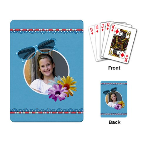 Our Backyard Party Playing Cards 1 By Lisa Minor   Playing Cards Single Design   Fu8qps6dfagw   Www Artscow Com Back