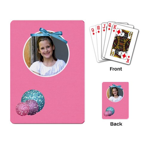 Our Backyard Party Playing Cards 2 By Lisa Minor   Playing Cards Single Design   Wfnp6ll9rk5r   Www Artscow Com Back