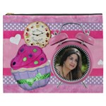 Any Time is Cupcake Time_pink_ cosmetic bag - Cosmetic Bag (XXXL)