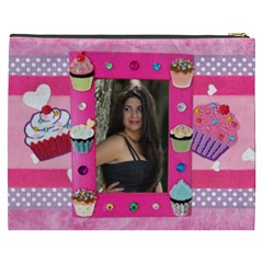 Any Time Is Cupcake Time Pink  Cosmetic Bag By Ivelyn   Cosmetic Bag (xxxl)   5j5fkha8jf9y   Www Artscow Com Back