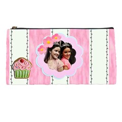 Pink Stripes Pencil Case By Ivelyn   Pencil Case   Lfp3tkht9r3a   Www Artscow Com Front