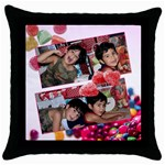 candy hearts II pillow - Throw Pillow Case (Black)