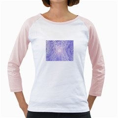 Purple Cubic Typography Womens  Long Sleeve Raglan T Shirt (white) by TheZiNES