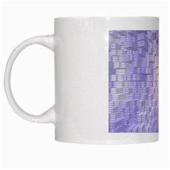 Purple Cubic Typography White Coffee Mug by TheZiNES