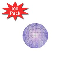 Purple Cubic Typography 1  Mini Button (100 Pack) by TheZiNES