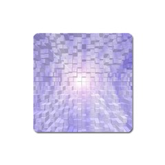Purple Cubic Typography Magnet (square) by TheZiNES
