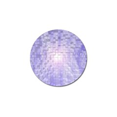 Purple Cubic Typography Golf Ball Marker by TheZiNES