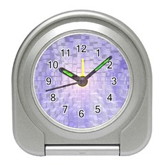 Purple Cubic Typography Desk Alarm Clock by TheZiNES