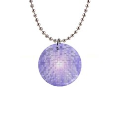 Purple Cubic Typography Button Necklace by TheZiNES