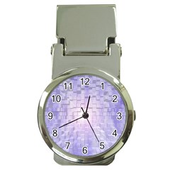 Purple Cubic Typography Money Clip With Watch by TheZiNES