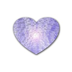 Purple Cubic Typography Drink Coasters 4 Pack (heart)  by TheZiNES
