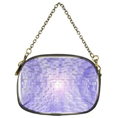 Purple Cubic Typography Chain Purse (one Side) by TheZiNES