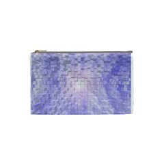 Purple Cubic Typography Cosmetic Bag (small) by TheZiNES