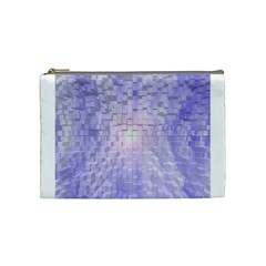 Purple Cubic Typography Cosmetic Bag (medium) by TheZiNES
