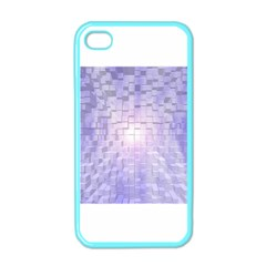 Purple Cubic Typography Apple Iphone 4 Case (color) by TheZiNES