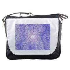 Purple Cubic Typography Messenger Bag by TheZiNES