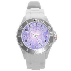 Purple Cubic Typography Plastic Sport Watch (large) by TheZiNES