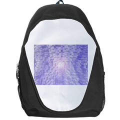 Purple Cubic Typography Backpack Bag by TheZiNES