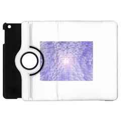 Purple Cubic Typography Apple Ipad Mini Flip 360 Case by TheZiNES